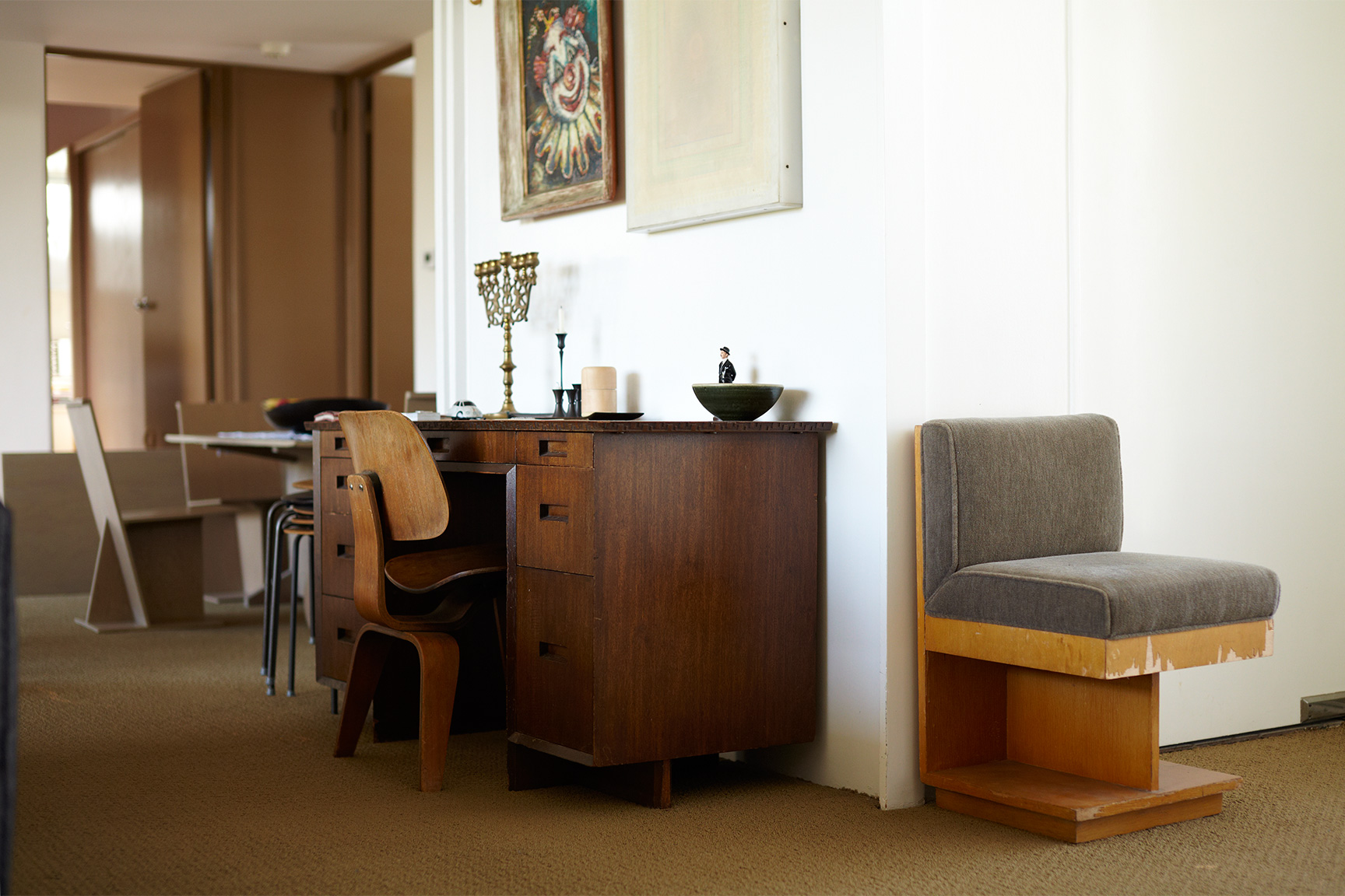 Rudolph Schindler home, Midcentury home, Echo Park, OK Store, Larry Schaffer