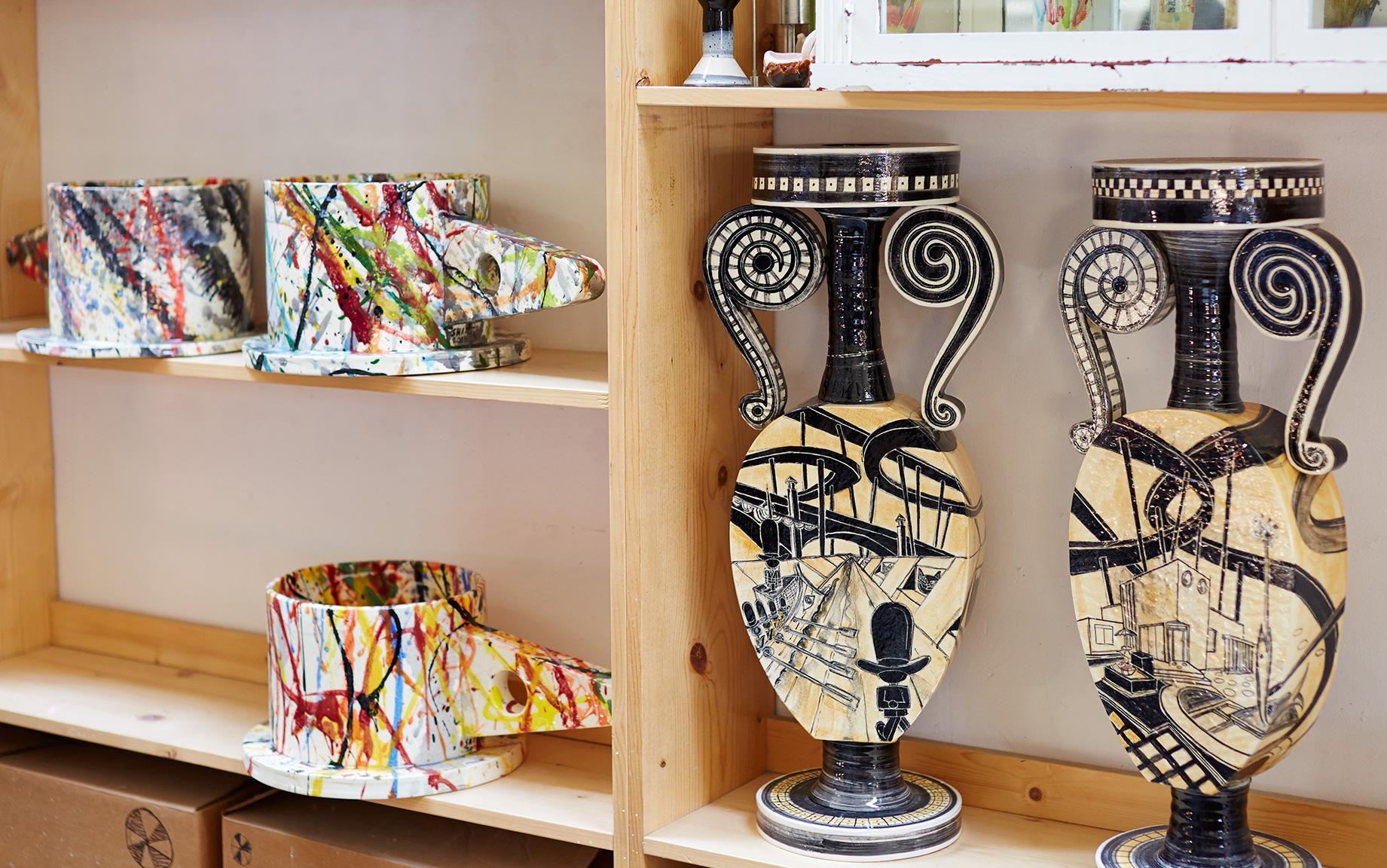 Peter Shire, Echo Park Pottery, memphis ,